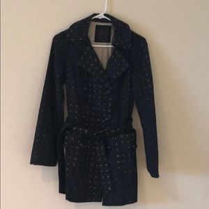 The Limited- black eyelet trench coat